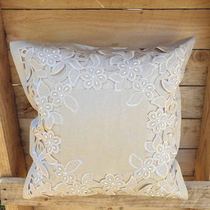 Cushion Cover - Beaded Cut out Simply Roka