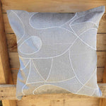 Cushion Cover - Grey Silver Simply Roka