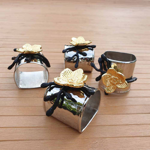 Simply Roka Flower Napkin Rings