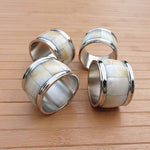 Mother of Pearl Napkin Rings (Set of 4) Simply Roka
