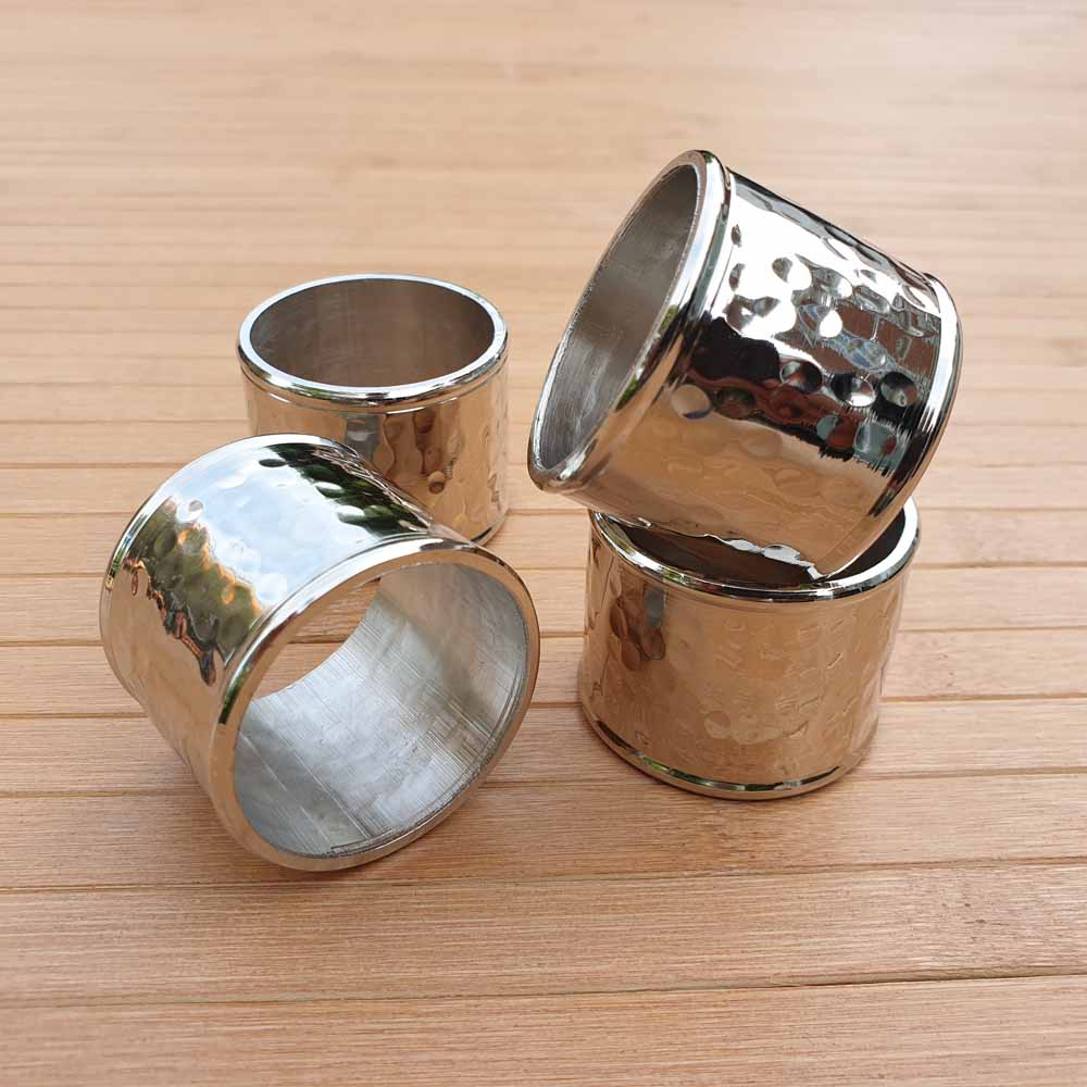 Hammered Napkin Rings (Set of 4) - Simply Roka