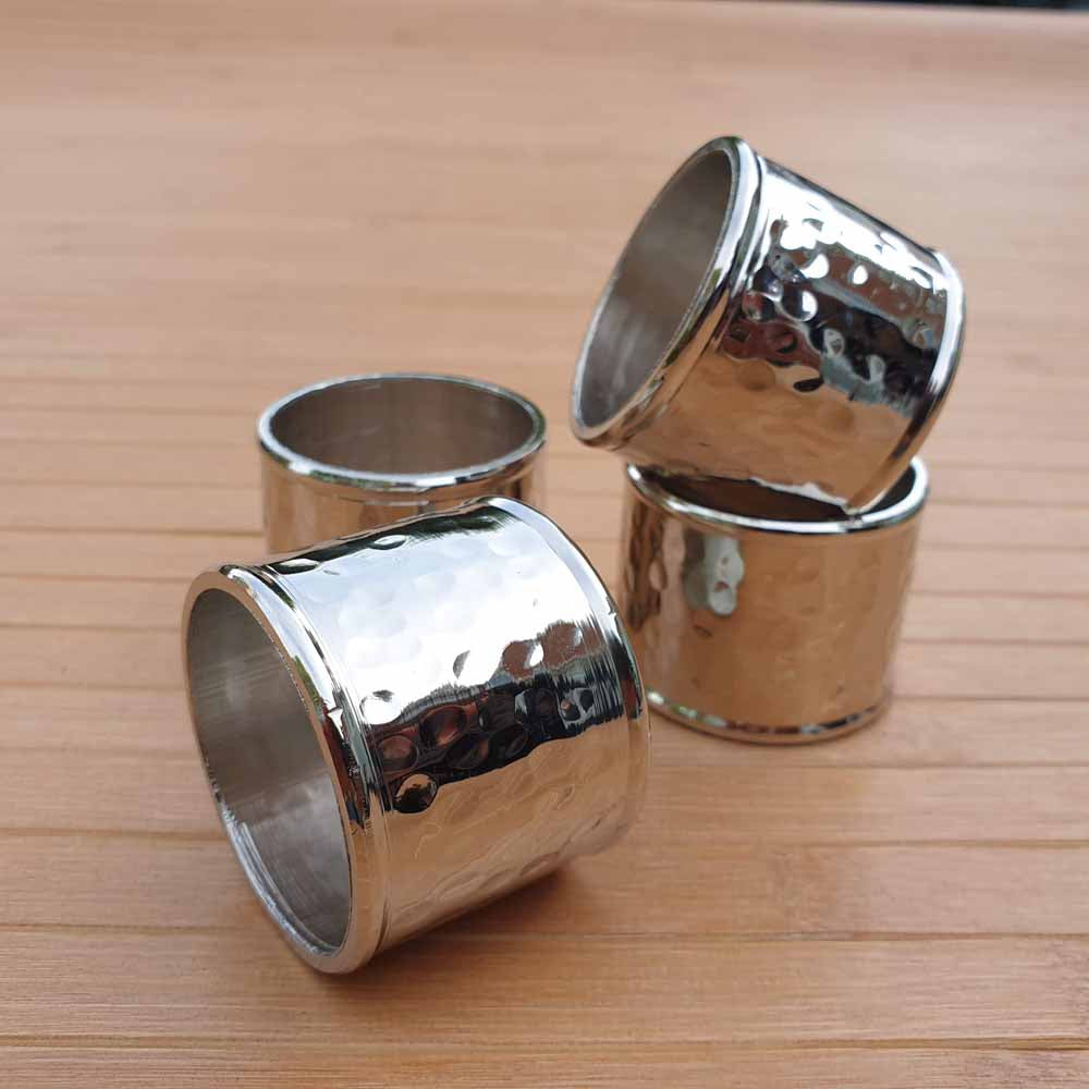 Hammered Napkin Rings (Set of 4) Simply Roka