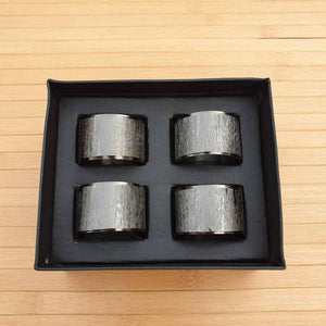 Pewter Coloured Napkin Rings (Set of 4) Simply Roka