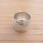 Convex Aluminium Napkin Rings (Set of 4) Simply Roka