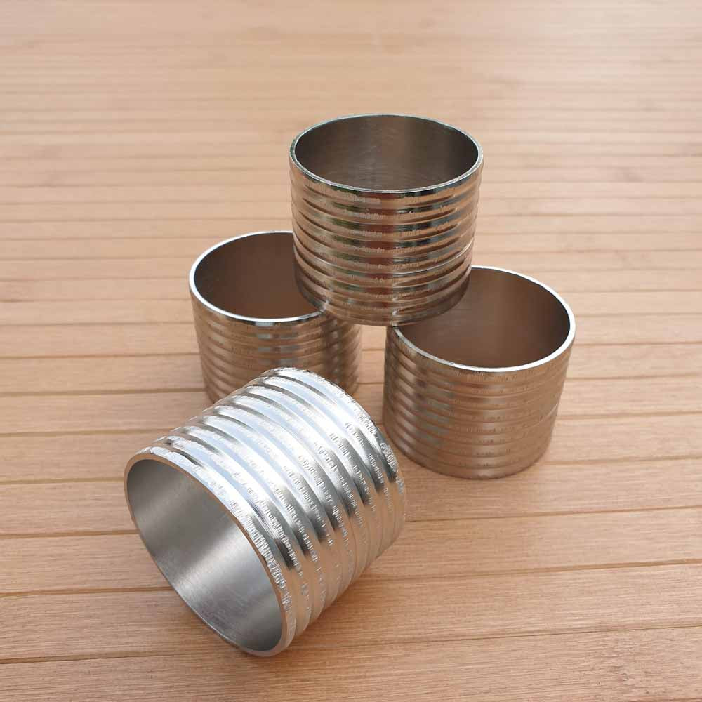 Striped Cylinder Napkin Rings (Set of 4) - Simply Roka