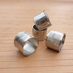 Cylinder Aluminium Napkin Rings (Set of 4) - Simply Roka