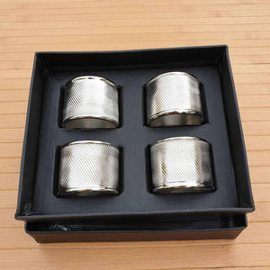 Cylinder Aluminium Napkin Rings (Set of 4) Simply Roka
