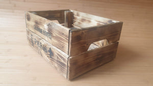 Shabby Chic Rustic Industrial Wooden Crate