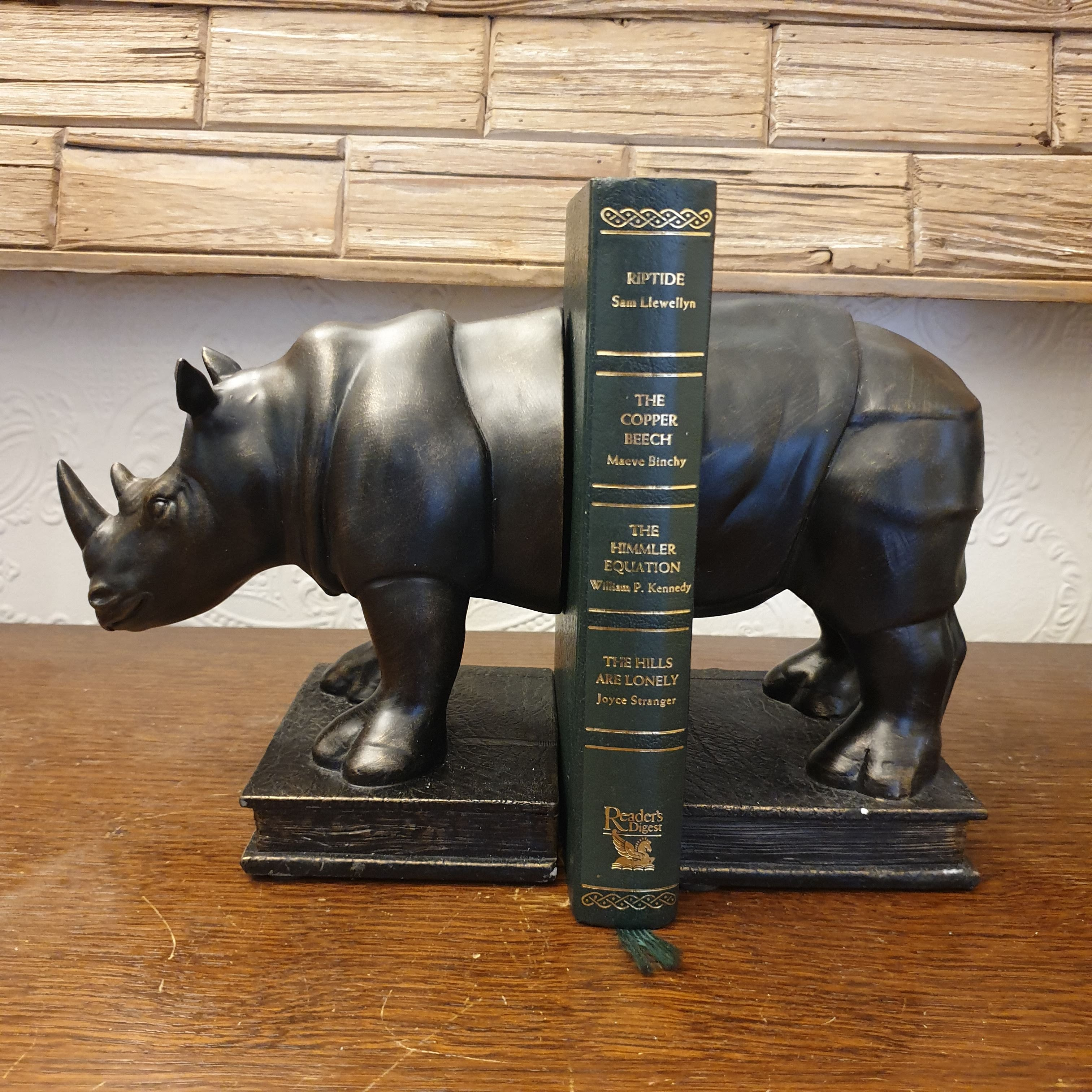 Rhino Bookends