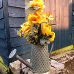 Metal Watering Can Style Planter - Tarnished Ridged - Simply Roka