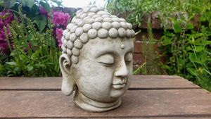 Cement Concrete Buddha Head Ornament - Simply Roka