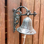 Cast Iron Wall Bell - Verdigris - Simply Roka