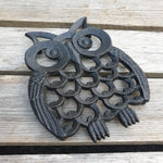 Set of Cast Iron Owl Trivets - Simply Roka