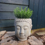 Cement Concrete Buddha Head Planter - Medium - Simply Roka