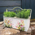 Metal Double Planter - Tulip Flowers - Simply Roka