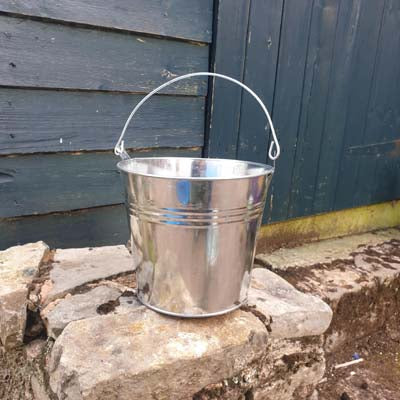 Set of 2 Galvanised Metal Bucket Planters - Simply Roka