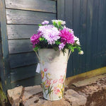 Tall Metal Bucket Planter - Tulip Flowers - Simply Roka