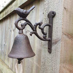 Small Cast Iron Door Bell - Bird - Simply Roka