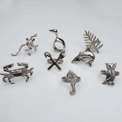 Napkin Rings in various designs - Simply Roka