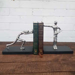 Aluminium Holding Pushing Couple Bookend - Pair - Simply Roka