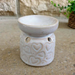 Ridged Heart Oil Burner - Set of 2 - Simply Roka