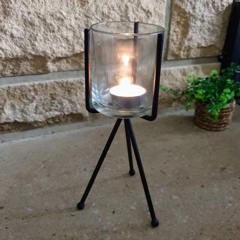 Tealight Holder - Black Tripod - Simply Roka
