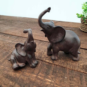 Small Elephant and Calf Ornament - Simply Roka