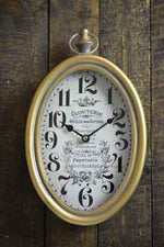 Antique Gold Oval Clock - Simply Roka