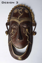 Brass Metal Good Luck Mask - Tribal Dhokra Art DBA01-3 - Simply Roka