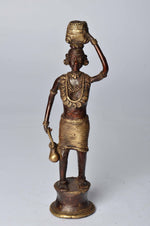 Brass Metal Workers Figurine - Tribal Dhokra Art Simply Roka