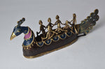 Brass Metal Peacock Shaped Boat -Tribal Dhokra Art Simply Roka