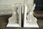 Mango Wood Fox Bookend Pair - Simply Roka