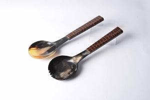 Gilani - Buffalo Horn Serving Spoons - Simply Roka