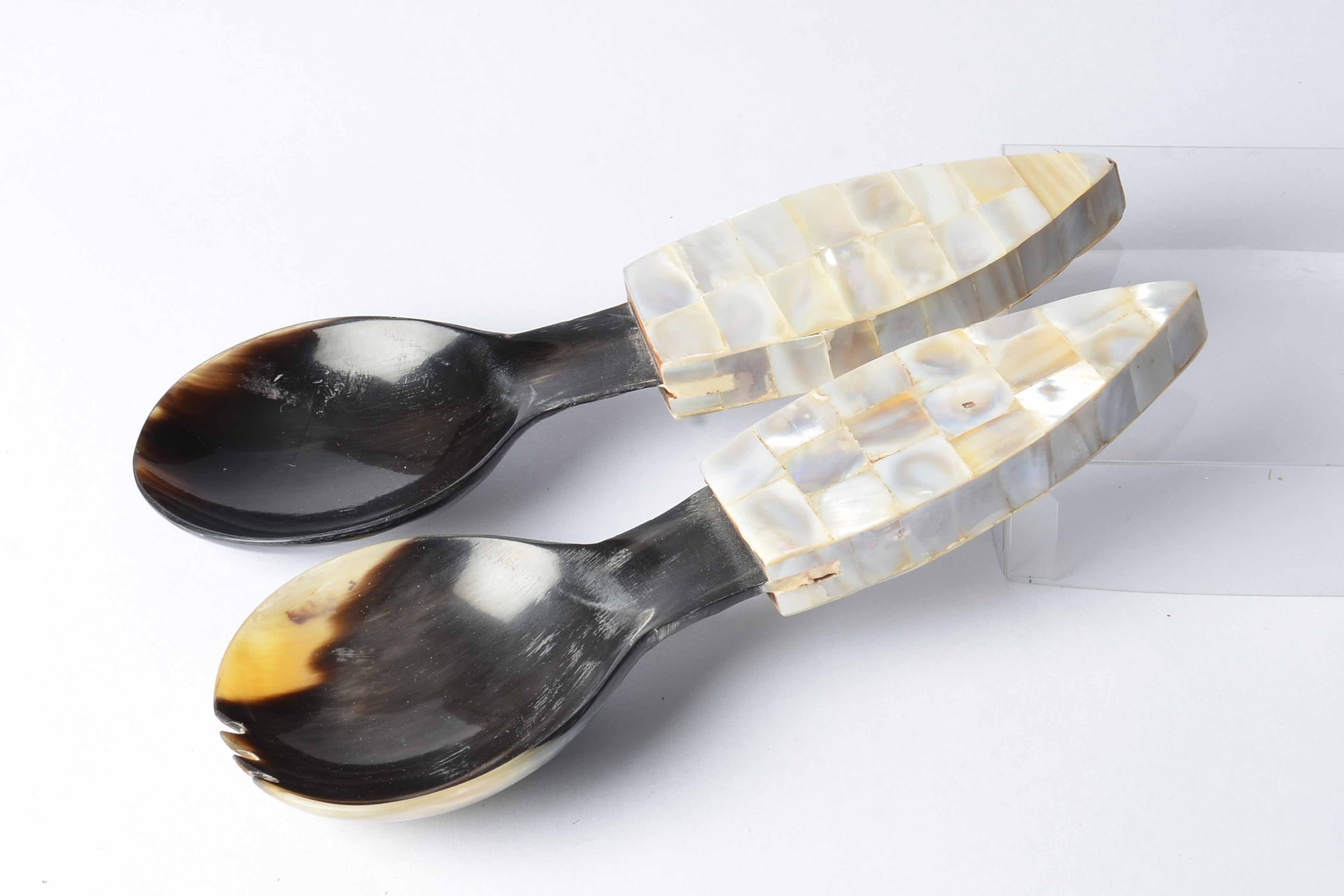 Dehong - Buffalo Horn Serving Spoons Simply Roka