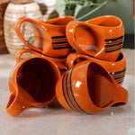 Hand Painted Mug - Orange Simply Roka