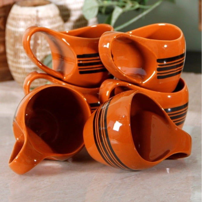 Hand Painted Mug - Orange - Simply Roka