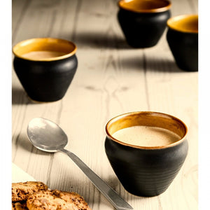 Set of 2 Small Handle-less Cups - Black - Simply Roka