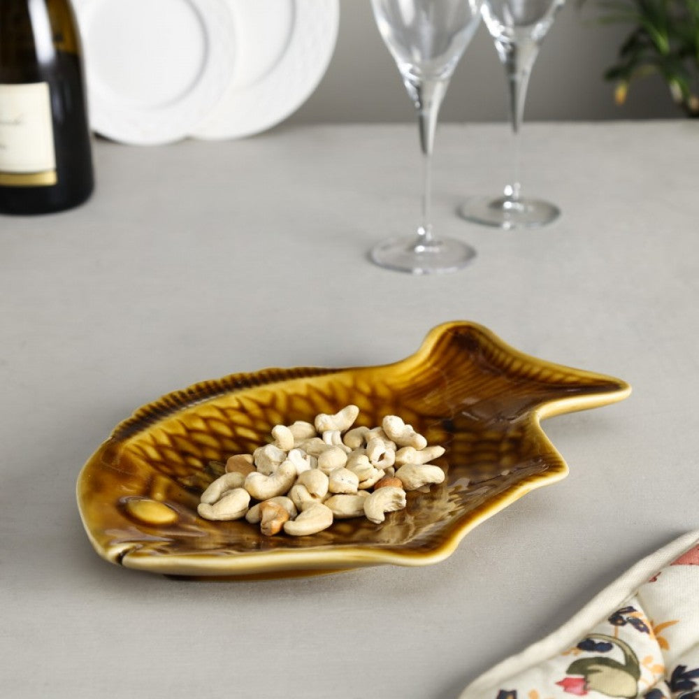 Ceramic Fish Shaped Serving Platter Simply Roka