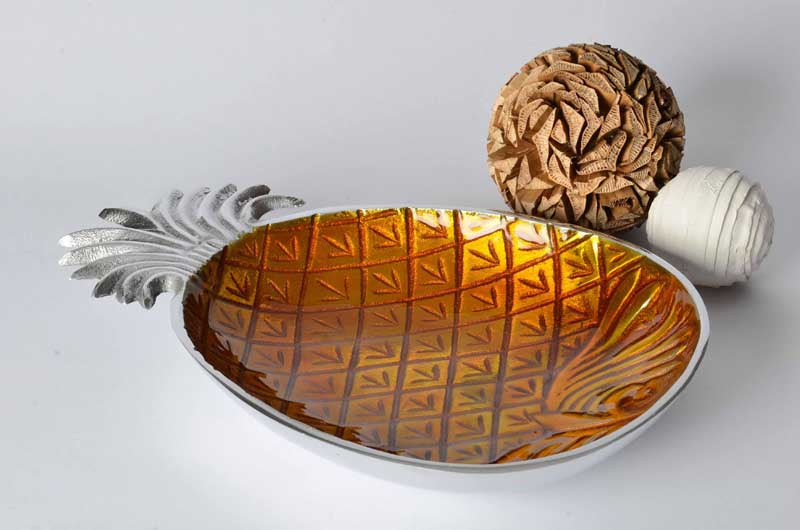 Faro - Botanics Enamelled Serving Bowl - Pineapple Simply Roka