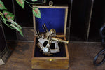 Vintage Brass Sextant Reproduction - Antique Finish + wooden box Simply Roka