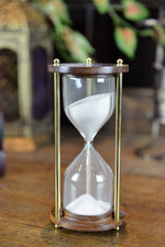 Wood Glass Brass Sand timer Simply Roka