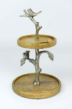 Chitoor - Mango Wood Cake / Serving Stand - Birds - Simply Roka