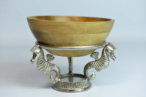 Kalami - Mango Wood Serving Bowl - Seahorse - Simply Roka