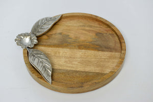 Ratna - Mango Wood Serving Platter - Flower Simply Roka