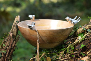 Amrapali - Mango Wood Serving  Bowl - 5 Birds