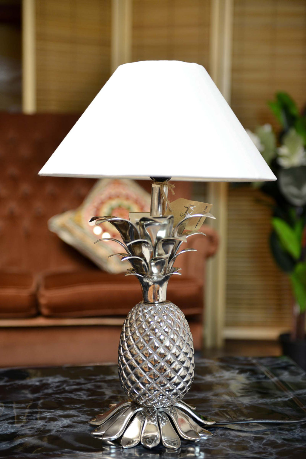 Pina - Aluminium Pinapple Table Lamp Base Simply Roka