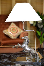 Mustang - Aluminium Horse Table Lamp - Nickel Finish Simply Roka