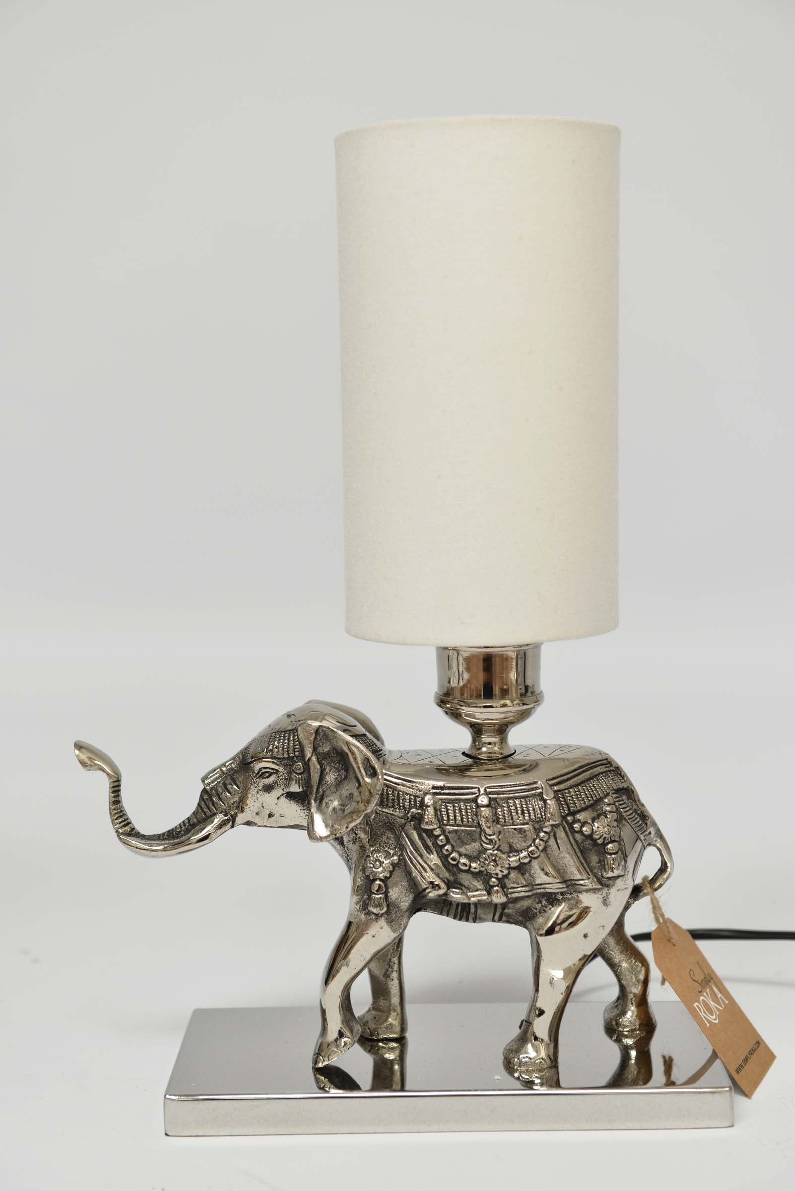 Appu - Aluminium Elephant Table Lamp Simply Roka