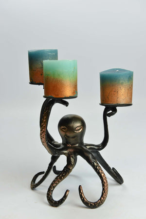 Bocki - Aluminium Candle Holder - Octopus Simply Roka