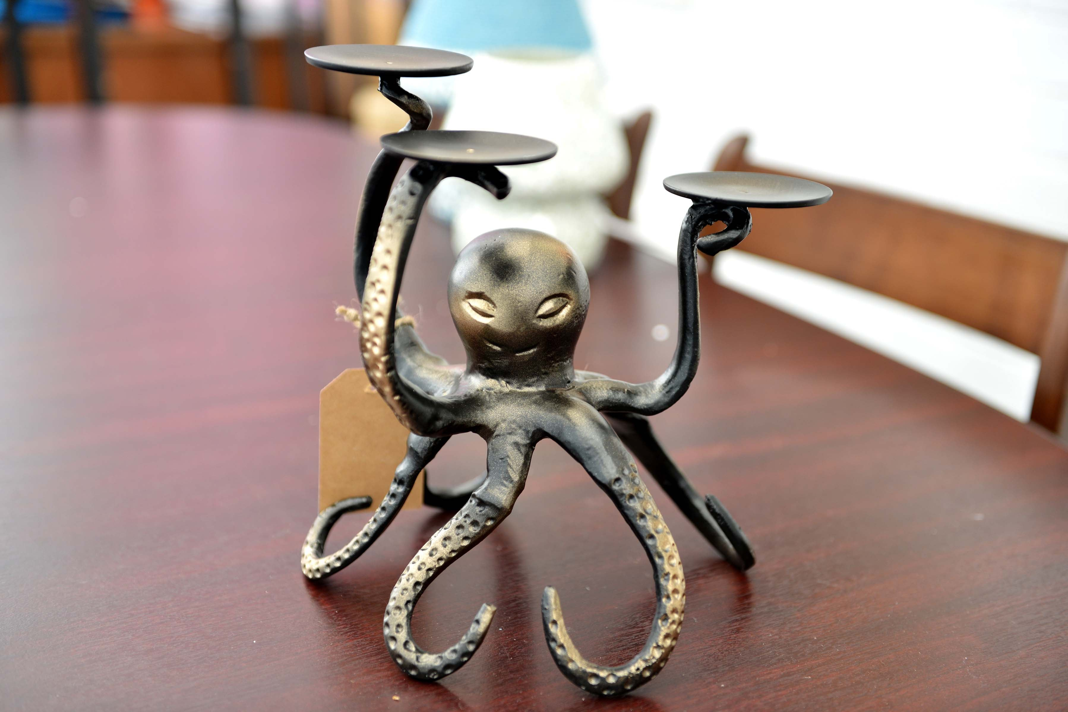 Bocki - Aluminium Candle Holder - Octopus - Simply Roka